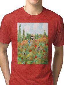 My Field Of Poppies Tri-blend T-Shirt