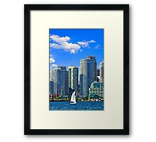 Sailing in Toronto harbor Framed Print