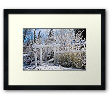 Front yard of a Toronto house in winter Framed Print