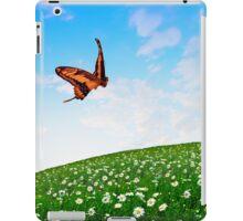 Butterfly Over Flower Meadow iPad Case/Skin
