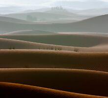 Dubai desert in a foggy morning by naufalmq