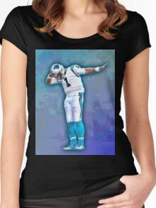 Cam Newton Dab Women's Fitted Scoop T-Shirt