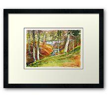 Beside the Dee River in Aberdeenshire Scotland Framed Print