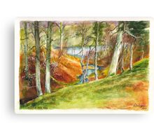Beside the Dee River in Aberdeenshire Scotland Canvas Print