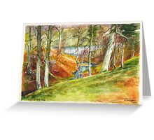 Beside the Dee River in Aberdeenshire Scotland Greeting Card