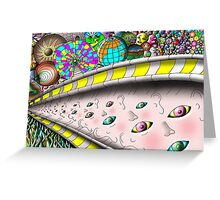 Eye Ball Composition Greeting Card