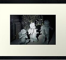 framed poster of the baby weeping angels by DrWhoJohnSmith