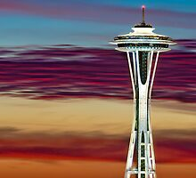 Glorious Space Needle Sunset by Jim Stiles