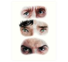The Eyes of BBC's SHERLOCK Art Print