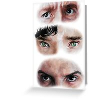 The Eyes of BBC's SHERLOCK Greeting Card