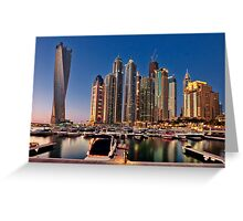 Dubai Marina night Greeting Card