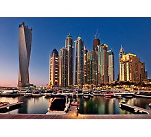 Dubai Marina night Photographic Print