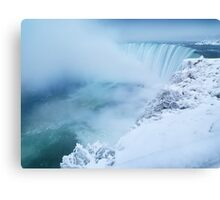 Niagara Falls in Winter art photo print Canvas Print