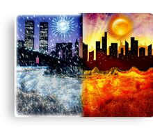 Global Climate Change Canvas Print