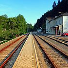 Haslach railway station | architectural photography by Patrick Jobst