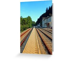 Haslach railway station | architectural photography Greeting Card