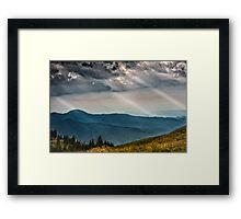 Nature panorama Framed Print