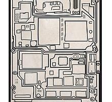 SLAVER circuit board by SLAVER Clothing