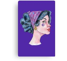 Time for some serious work, girl! Canvas Print