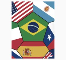 various flags - Brazil 2014 Baby Tee
