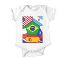 various flags - Brazil 2014 One Piece - Short Sleeve