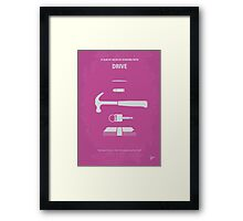 No258 My DRIVE minimal movie poster Framed Print