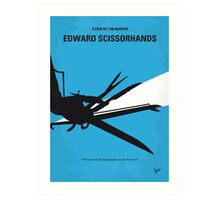 No260 My Scissorhands minimal movie poster Art Print