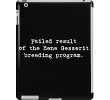 Failed Bene Gesserit iPad Case/Skin