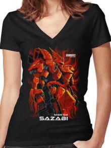 Sazabi Women's Fitted V-Neck T-Shirt