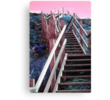Step Up to Pink Sky, Cable Beach, Albany Western Australia Canvas Print