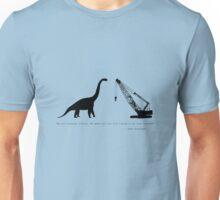 Lonely Dinosaur Meets Crane Unisex T-Shirt