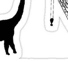 Lonely Dinosaur Meets Crane Sticker