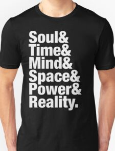 Infinity Gems - Soul& Time& Mind& Space& Power& Reality. Unisex T-Shirt