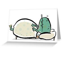 the dragon is sick Greeting Card
