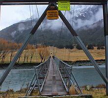 Bridge acros Matukituki River by Charles Kosina