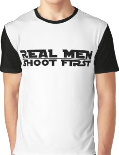 Real Men Shoot First Star Wars Graphic T-Shirt
