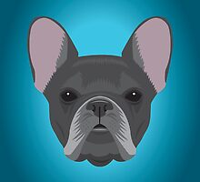 Black French Bulldog by threeblackdots