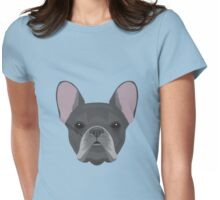 Black French Bulldog Womens Fitted T-Shirt