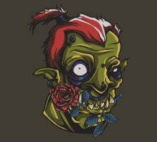 Zombie with a Rose - Vector Design by xanthos84