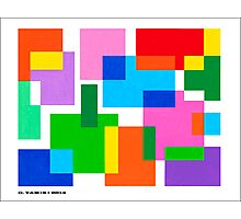 COLOURED SURFACES DISTRIBUTION Photographic Print