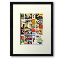 Arabic Books & Films Covers  Framed Print