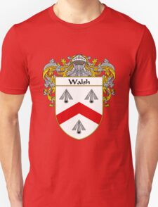 Walsh Coat of Arms / Walsh Family Crest T-Shirt