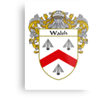 Walsh Coat of Arms / Walsh Family Crest Metal Print