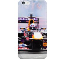Daniel Ricciardo's F1 lights up the streets of Perth city in his Redbull race car iPhone Case/Skin