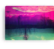 Fuschia Sky Canvas Print