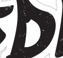 JDM plain graffiti - Black Sticker