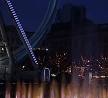 Fountain and big wheel. by CameronSmith