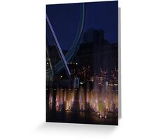 Fountain and big wheel. Greeting Card