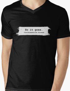 So It Goes Kurt Vonnegut Mens V-Neck T-Shirt