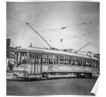 Vintage Streetcar Trolley 1868 Poster